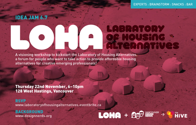 Laboratory of Housing Alternatives – Visioning Workshop